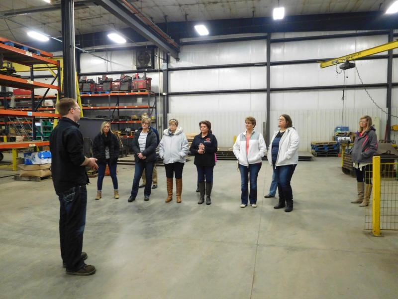 Teacher Tour Day Anderson Industries Shoemaker