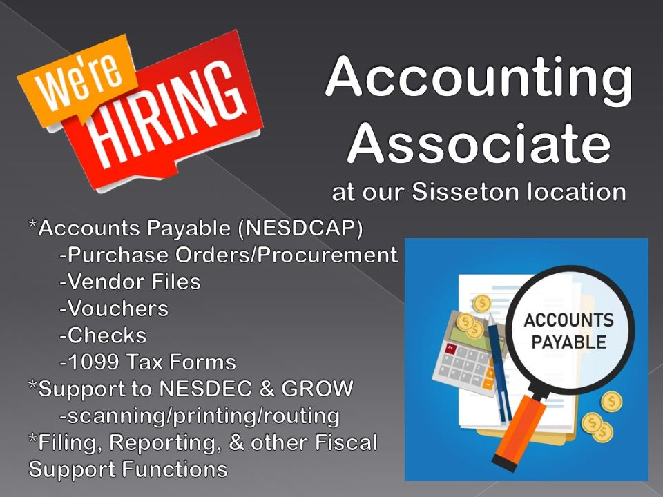 Thumbnail Image For JOB APPLICATION: Accounting Associate - Click Here To See